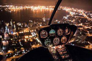 Ночные прогулки на вертолете